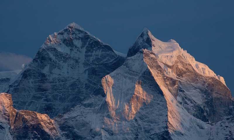 Der Kantega (Nepal) - Der 6779 Meter hohe Kantega im Abendlicht, Solo-Khumbu-Region, Nepal, Himalaya   Foto: Bernd Ritschel