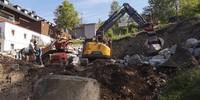 Bau der Steinmauer für dem neuen Tipiplatz, 03.06.2020; Foto: Jubi/ Timo Hieronymus