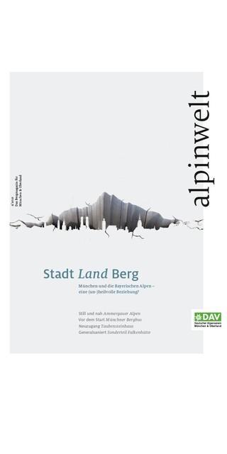 """Das neue Cover der """"alpinwelt"""". Foto: Alpenverein München & Oberland"""