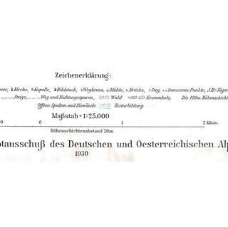So sah die Legende der ersten Alpenvereinskarte des Zillertals aus.