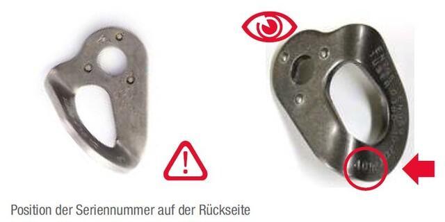 Fixe-Lasche-Rückruf-Chargennummer