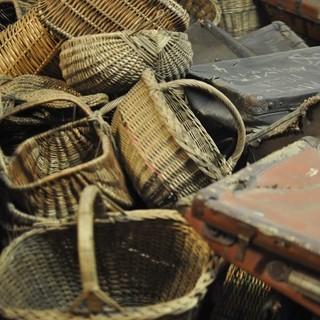 Museum Auschwitz: gesammltes Gepäck der Opfer&#x3B; (c) Jonas Freihart