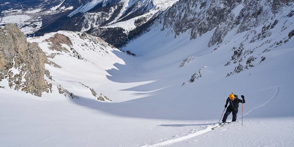…mit mehreren steilen Gipfelkaren zur Auswahl. Foto: Thilo Brunner