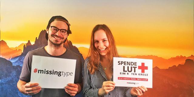 #missingtype - erst wenn's fehlt, fällt's auf! - Wir machen uns fürs Blutspenden stark! Der DAV unterstützt die Aktion #missingtype