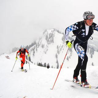 Skitourenrennen am Hochgrat, Allgäuer Alpen, Bayern, Deutschland