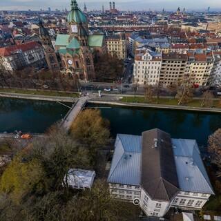 Luftaufnahme aus dem Garten des Alpinen Museums. Aufnahme: Thomas Rychly