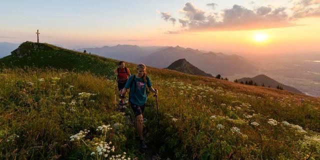 Abendstimmung am Hochgern, Chiemgauer Berge, Foto: Wolfgang Ehn