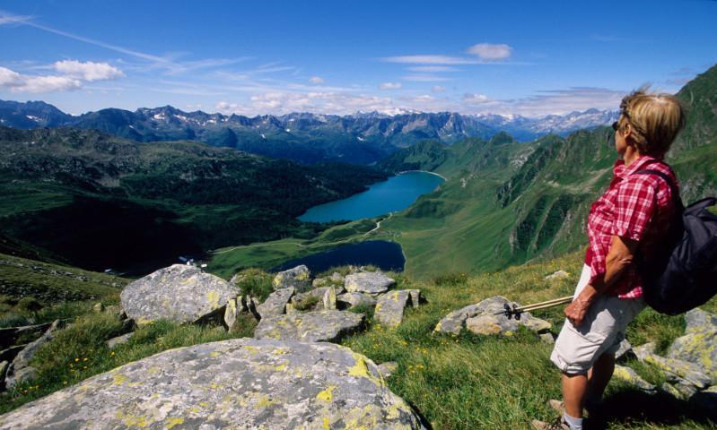 Ausblick vom Pizzo Corandoni, Cadlimotal, Tessin, Schweiz