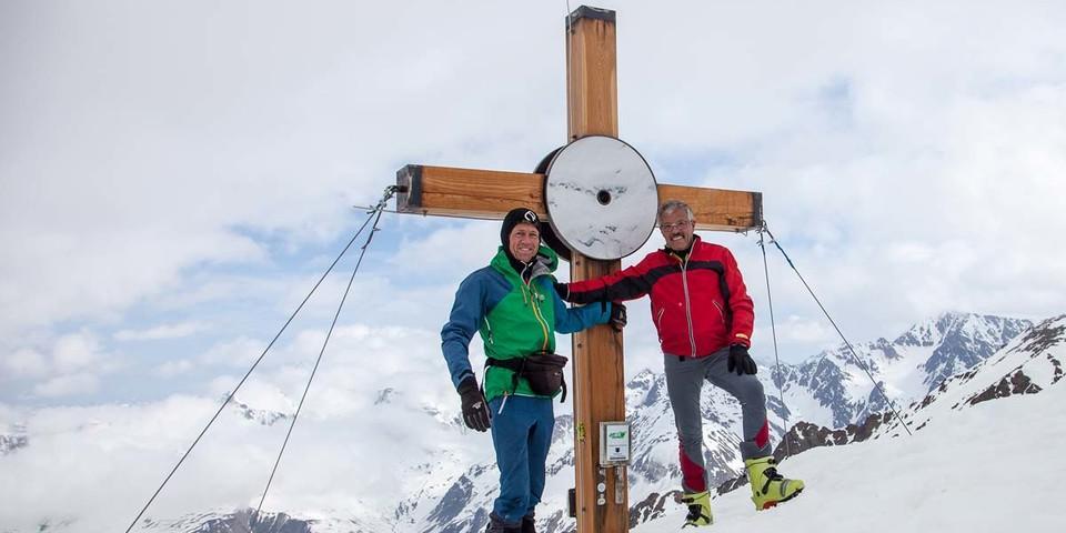 An der Mitterlochspitze wurde unser Autor vom Wirt und Gebietskenner Sepp Thöni begleitet. Foto: Markus Stadler