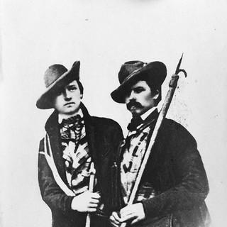 Brüder Schlagintweit - Die Brüder Adolph und Hermann Schlagintweit in den Alpen, um 1850. Alpines&nbsp&#x3B;Museum des Deutschen Alpenvereins. München