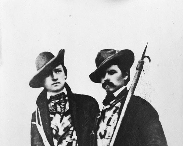 Brüder Schlagintweit - Die Brüder Adolph und Hermann Schlagintweit in den Alpen, um 1850. AlpinesMuseum des Deutschen Alpenvereins. München