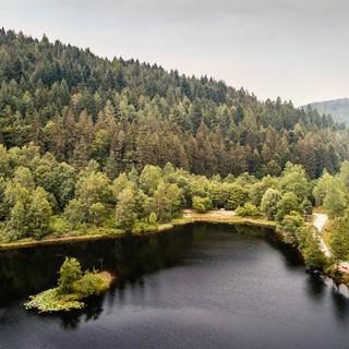 Sankenbachsee mit pittoresker Insel, Foto: Stefan Kuhn Photography