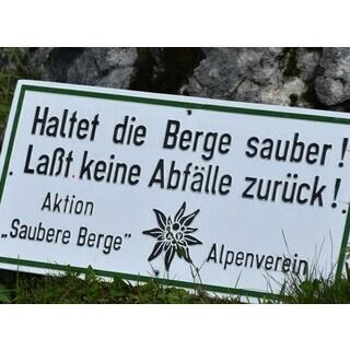 Müll in den Bergen Sektion München-Oberland.