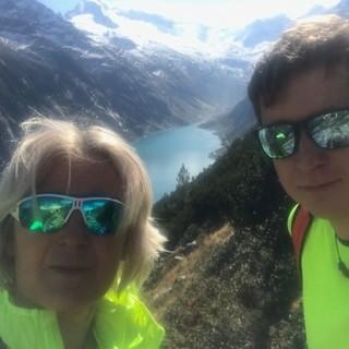 Katharina Daum und Sohn Manuel von der Olpererhütte. Foto: Katharina Daum