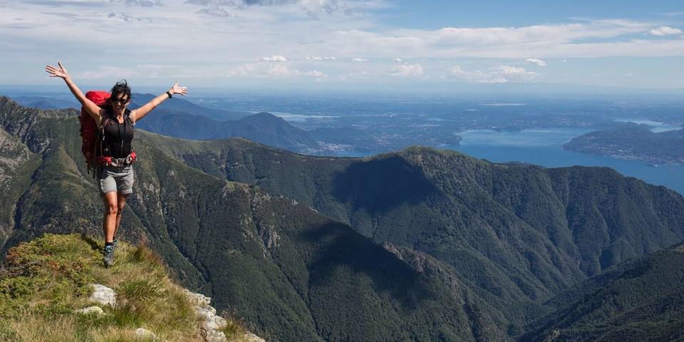Gipfelglück und Lago-Maggiore-Blick auf der Cima della Laurasca. Foto: Stefan Neuhauser