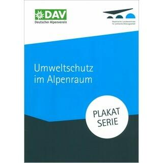 "Plakatserie ""Umweltschutz im Alpenraum"" - Titelblatt"