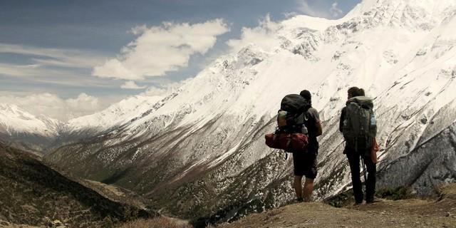 Patrick und Gwen im Himalaya, Foto: Patrick Allgaier/Gwendolin Weisser