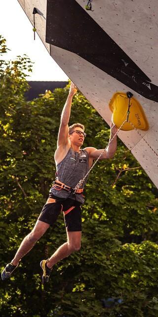 Foto: DAV/Hannes Kutza. Stefan Scherz aus Österreich ist der Sieger bei den Junioren.