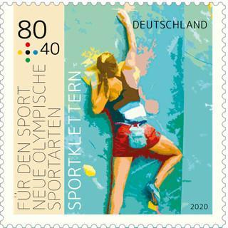 Klettern ist eine von drei neuen Sportarten, die neu ins olympische Programm aufgenommen wurden. Gestaltung: Thomas Serres. Volage: Nils Nöll
