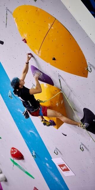 Foto: DAV/Stepan Chaporov - Emil Zimmermann in der Final-Route