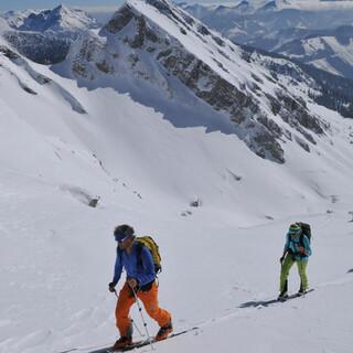 Die Skitour auf die Gsuchmauer im Gesäuse führt auf 2116 Meter. Foto: Stefan Herbke