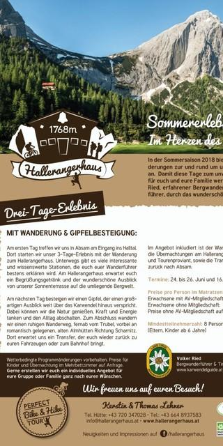 Hallerangerhaus 3Tage-Erlebnis web