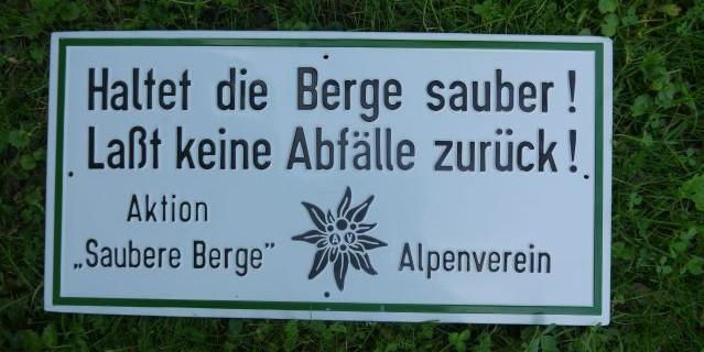 Der Deutsche Alpenverein kämpft seit lange für saubere Berge.