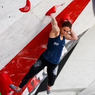 Afra Hönig gewinnt das Boulder-Finale. Foto: DAV/Marco Kost
