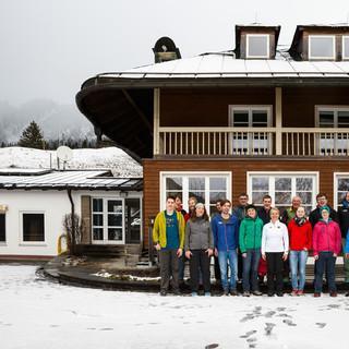 Die No Limits Gruppe mit Verena Bentele an der Jubi&nbsp&#x3B;© DAV/Marco Kost