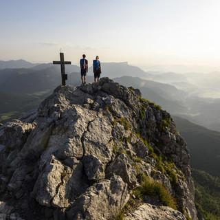 Auf dem Gipfel der Schärtenspitze. (Foto: DAV/Wolfgang Ehn)