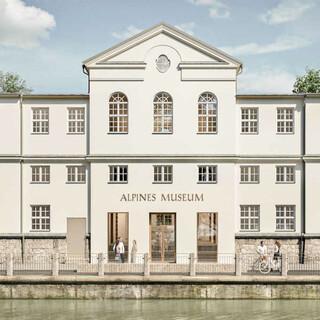 Das Alpine Museum wird sichtbar. Die neue Fassade mit Eingang zur Straßenseite hin. Foto: Feil Architekten