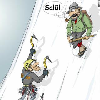 """Salü"". Motiv: Georg Sojer"