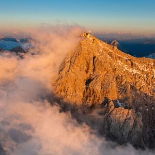Zugspitze im Sonnenuntergang, Foto: Jörg Bodenbender