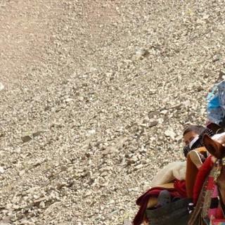Berberfamilie - Wo Mobilität mühsam ist: Berberfamilie im Burka-Blindflug unterwegs