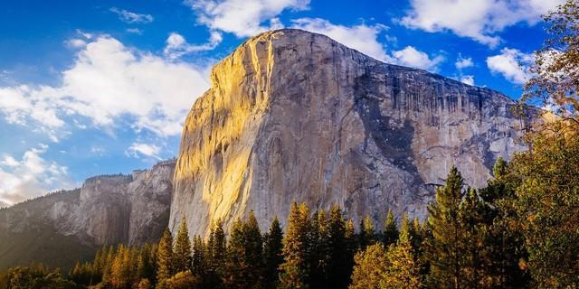 Auf den höchsten Punkt des El Capitan führt ein einfacher Wanderweg - oder die Route durch steile Granitwände.