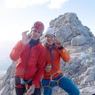 Felix Gottwald und David Kreiner auf der Zugspitze. Foto: ServusTV / Timeline-Production