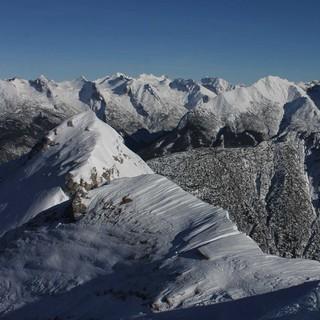 Das Karwendelgebirge präsentierte sich am Nikolaustag bereits ziemlich winterlich. Foto: M. Pröttel