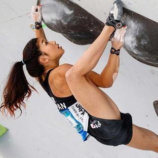 Miho Nonaka, Boulderweltcup-Gesamtsiegerin 2018. Foto: DAV/Marco Kost