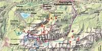 Karte - Karte Jubiläumsgrat Route E. Abbildung: Christian Rolle
