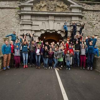 Zufriedene Teilnehmer*innen bei der JuRef-Tagung 2016, Foto: JDAV/Hugo Ritzkowski