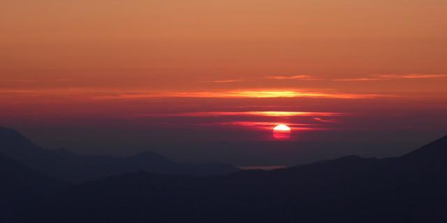 Sonnenuntergang über dem Chiemsee, Foto: Sonja Hauser