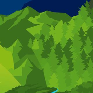 Bergwald - Grafik: Marmota Maps