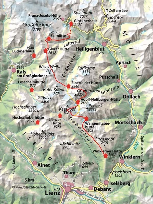 Großglockner Karte.Mehr Infos Zum Artikel In Dav Panorama 6 2014 Hüttentour Wiener