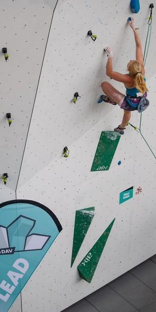 Eine Newcomerin auf dem Weg nach oben: Lucia Dörffel. Foto: DAV/Marco Kost