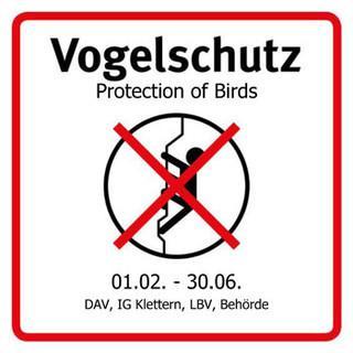 Vogelschutz - Hinweisschild. Bitte beachten!