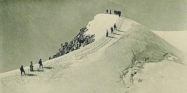Foto: Aufstieg zum Scähwarzenstein um 1910, Archiv der DAV Sektion Berlin