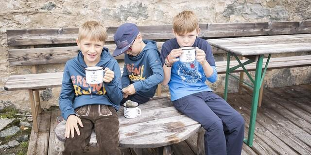 Auch die Kleinen brauchen mal ne (Tee-)Pause. Foto: DAV/Jens Klatt