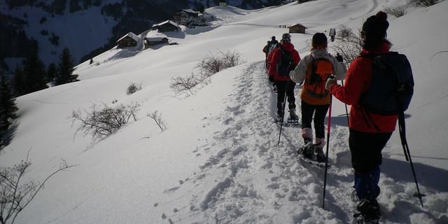 """Beim Abstieg vom Wiesler Berg liegt das Einkehrziel – der Berggasthof """"Zugpsitzblick"""" – schon zum Greifen nahe. Foto: Thomas Krobbach"""