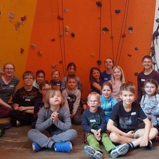 """Kletternachmittag für Integrativkinder der Kindergruppe """"Berglöwen"""", Foto: JDAV Fulda """"Berglöwen"""""""