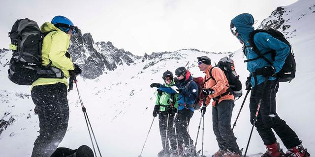 Orientierung bei der Winterdurchquerung, Foto: JDAV/ Christoph Hummel